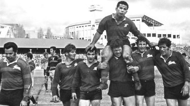 """I did it and I was probably stupid but I did it because it was a grand final"": Former Rabbitohs captain and 1970 grand final winner John Sattler."