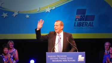 'West Australians are the best Australians'... Tony Abbott told a rally in Perth earlier this year.