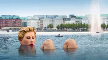 This sculpture certainly got noticed when it was plunged into a German lake.