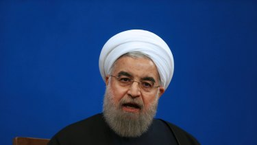 """""""To annul world trade accords does not help their economy"""": Iranian President Hassan Rouhani."""