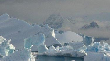 Rapid melting on the Antarctic Peninsula.