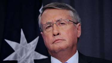 Having a go ... Wayne Swan must know he's on the downhill run as Treasurer.
