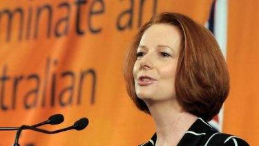 A tough sell ... Prime Minister Julia Gillard.