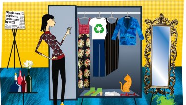 Illustration by Monique Westermann for Melissa Singer story on ethical shopping/fashion.