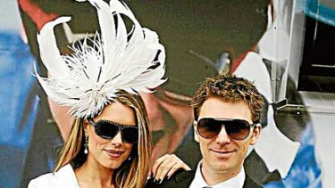 Tara Moss and Berndt Sellheim at Derby Day in Melbourne in 2008.