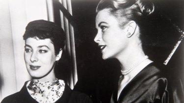 Rita Gam and friend Grace Kelly.