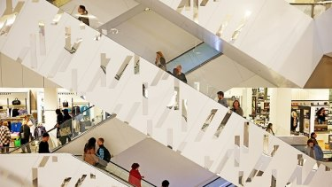 The Myer store in Bourke Street, Melbourne