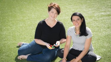 Maria Fletcher and Maria Porto, co-founders of Tinta Crayons.