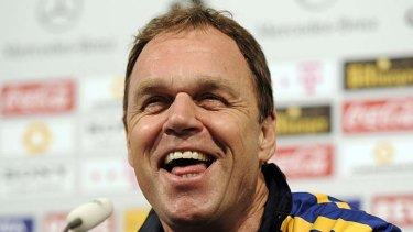 "Only a joke: Holger Osieck's defence for his sexist jibe that ""women should shut up in public."""