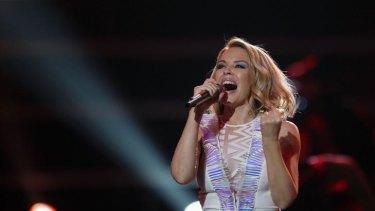 Australian singer Kylie Minogue.