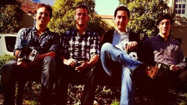 The Instagram team in July 2011 .... when it consisted of only four. From left to right: Instagram engineer and co-founder Mike Krieger, engineer Shayne Sweeney, CEO and co-founder Kevin Systrom and community manager Josh Riedell.