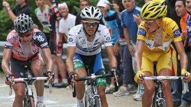 Contador Rasmussen and Evans