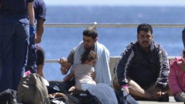 Asylum seekers arrive at Christmas Island this week.