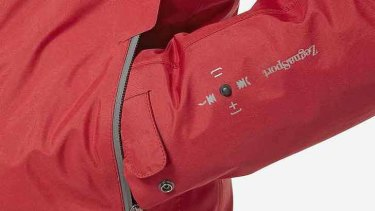 A press on the jacket's sleeve controls a host of phone and media player functions.
