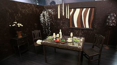 The chocolate room is 17-square-metres in size.
