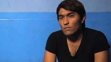 Hazara man Zainullah Naseri speaking on <i>Lateline</i>.