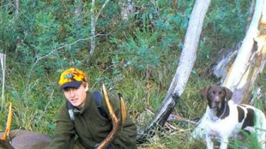 Nick Welch hunting in April, 2007.