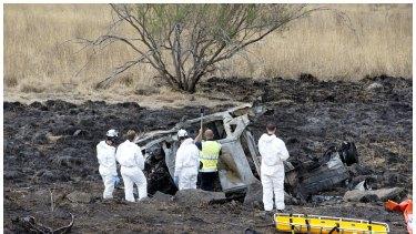 Police investigate the scene where Ivana Clonaridis and Harley Churchill died.
