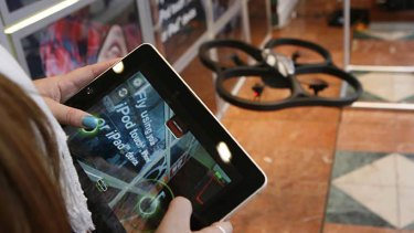 A type of drone that can be controlled using an iPad.