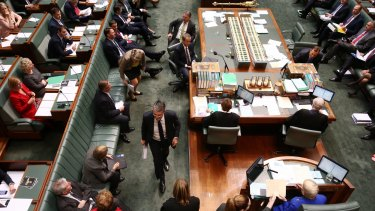 Mark Dreyfus was named and suspended from the House during question time  on Thursday.