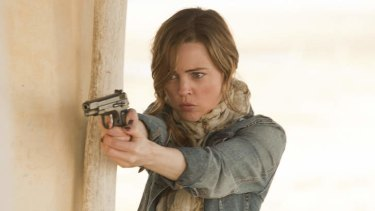 Melissa George in the series 'Hunted', which aired on SBS.