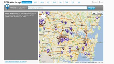 Updated NBN rollout map.