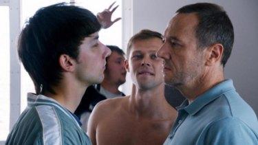 Power games: Kirill Emelyanov as Marek, left, Daniil Vorobyov as Boss and Olivier Rabourdin as Daniel in <i>Eastern Boys</i>.