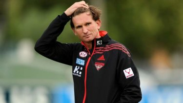 Essendon coach James Hird.