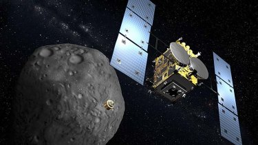 The space cannon will be on board the Hayabusa-2 space probe.
