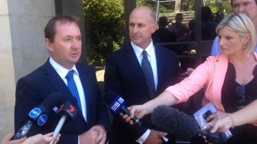 Corrective Services Minister Joe Francis (left) said the two recent escapee incidents 'were very different'.