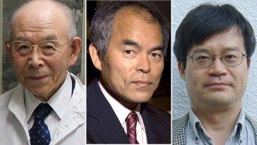 Physics Nobel Prize winners Professor Isamu Akasaki, American Inventor Shuji Nakamura and Professor Hiroshi Amano.