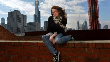 Sunnier skies: Van Badham was stricken with SAD, (Season Affective Disorder) while living in London but now she's on top of the world.