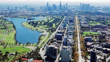 Converting outdated office space into homes is taking place in St Kilda Road.