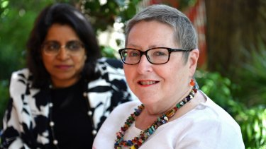 Julie Morgan with her doctor, Natasha Michael.