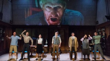 A scene from Headlong Theatre's acclaimed production of 1984, part of the 2015 Melbourne Festival.