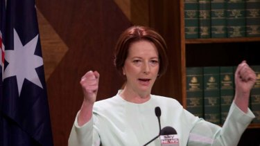 Dramatic days ... Julia Gillard, condemned her sacked staffer yesterday.