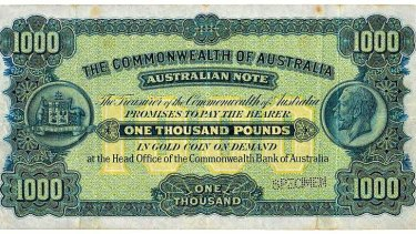 Sold in 2008 for $890,000 this 1923 1000 note is one of Australia's rarest. But it failed to meet its reserve at the recent auction and was passed in.