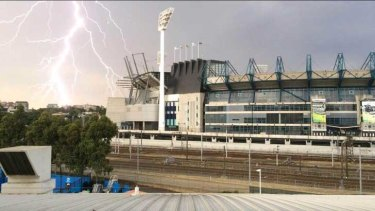 Tennis coach Darren Cahill took this picture at Rod Laver Arena.