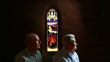 Pushed out ... Ken Turner, 77, and  June Cameron, 81, inside  St Clements Anglican Church, Marrickville.