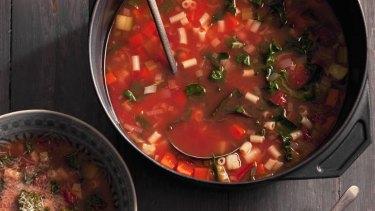 Eat for longevity ... minestrone soup.