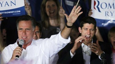 Team ... Republican presidential candidate, Gov. Mitt Romney,  left, with his vice presidential running mate, Rep. Paul Ryan.