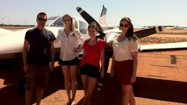 Dave Marley (rural DMO), Molly Gilfillan, Kate Hooper and Elizabeth in the Kimberley.