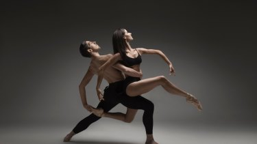 Melbourne Ballet Company dancers Alexander Bryce and Marsha Pecker.