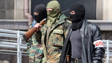 Pro-Russian militants have taken over government buildings in Donetsk.