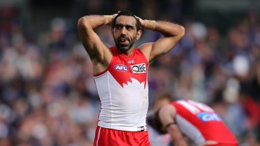 Adam Goodes took time away from the game this season.