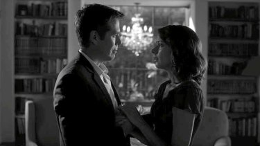 Combative pair: Alexis Denisof and Amy Acker.