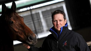 In the know: Sam Doran works for Aquanita Racing and keeps owners in touch with their horse's progress.