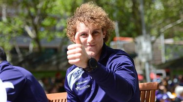 Chris Mayne approves of the parade.