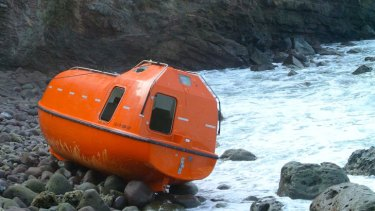 An Australian lifeboat used to turn back asylum seekers to Indonesia.