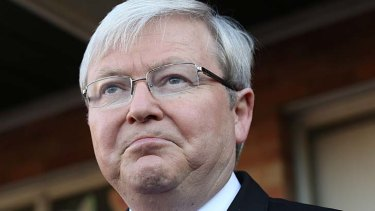 Took aim at News Corp: Kevin Rudd.